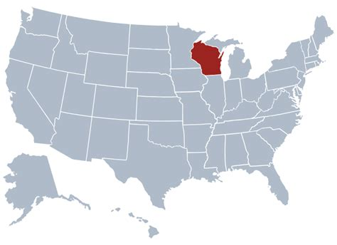 usa map states wisconsin wisconsin state information symbols capital