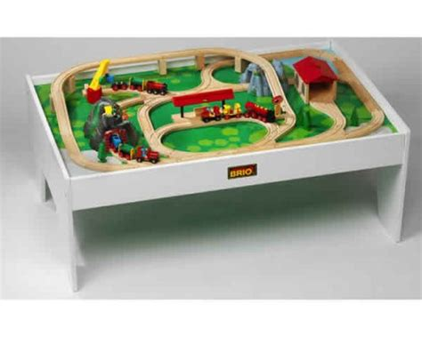 brio play table and train set brio playtable wooden railway model railways and train