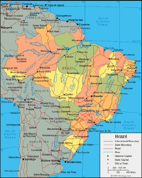 brazil political map brazil population map population map of brazil