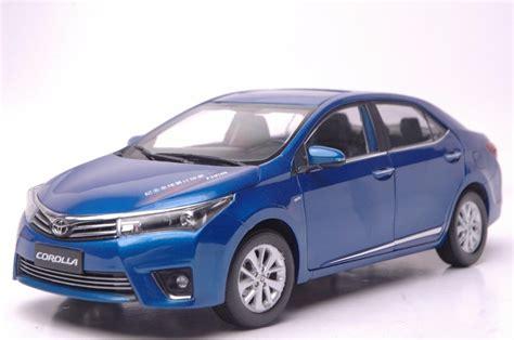 toyota model car toyota corolla altis 2014 blue 1 18 scale diecast model