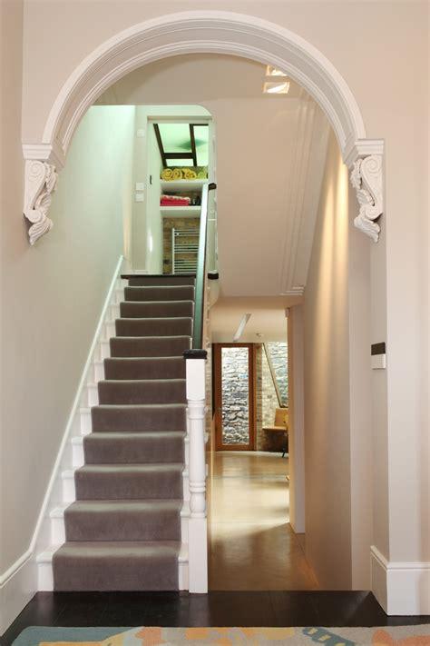 lparestored victorian hallway arch architecture