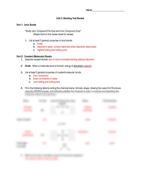 Chemistry Of Review Worksheet Answers by High School Chemistry Review Worksheets High Best Free