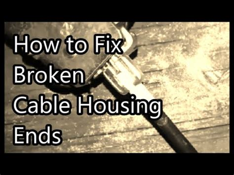 How To Fix A Broken Door Latch by Fix Broken Cable With Bicycle Brake Adjuster Ford Car
