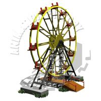 7 ft rotating animated ferriswheel ferris wheel spinning image animation factory