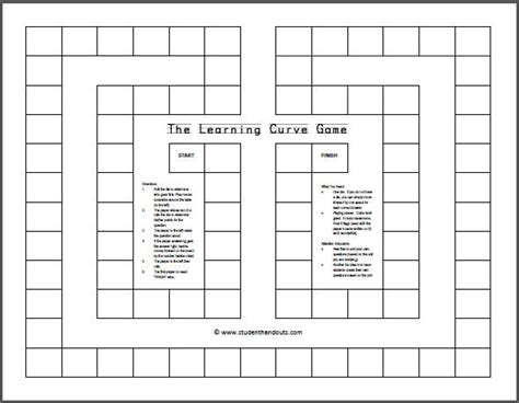 printable board template free printable board student handouts