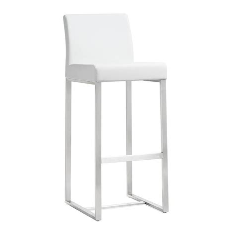 white modern stools modern stools danube white counter stool eurway