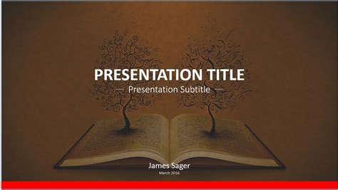 template for powerpoint book free book art powerpoint template 8739 sagefox