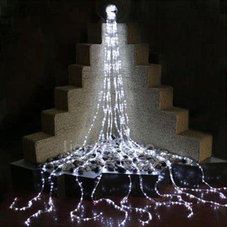 waterfall christmas lights at walmart of led waterfall bl 16 ft blue led waterfall lights walmart