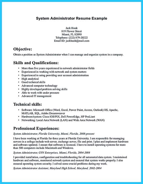 Resume Year Of Graduation Computer Administrator Sle Resume Microsoft Work Order