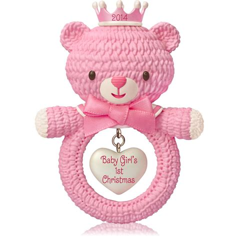 baby girl s first christmas christmas ornaments hallmark