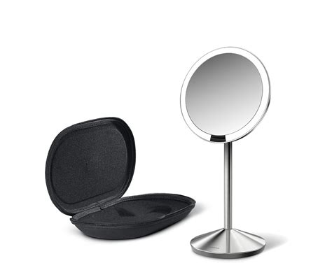 simplehuman lighted makeup vanity mirror simplehuman 5 inch mini sensor mirror lighted makeup