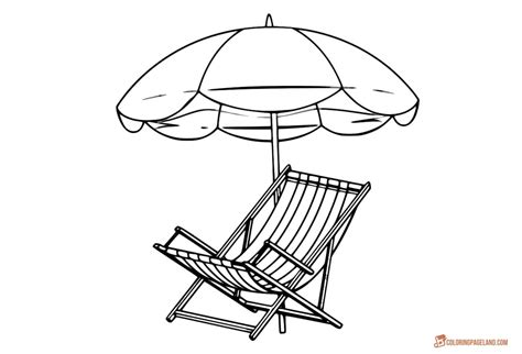 sun umbrella coloring page beach coloring pages free printable outline pictures