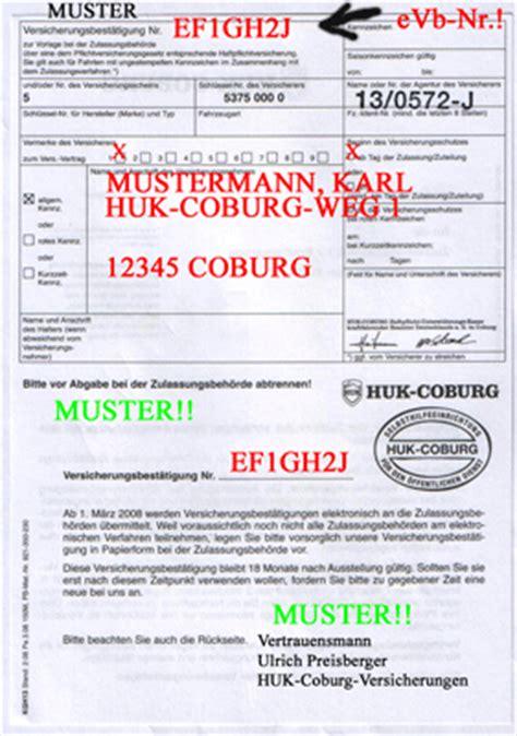 Huk Coburg Kfz Versicherung Motorrad by Die Elektronische Versicherungsbest 228 Tigung Vb Mit Einer
