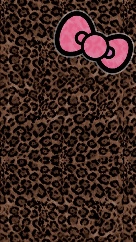 wallpaper animal print girly gallery pink cheetah hello kitty wallpaper