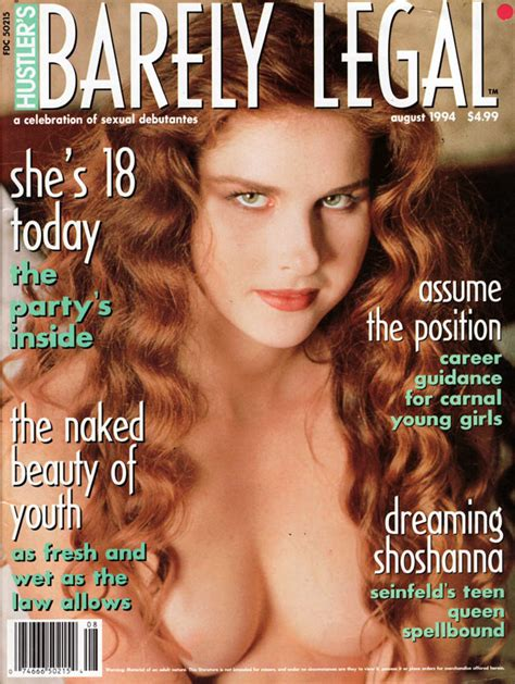 barely legal august 1994 magazine back issue barely legal
