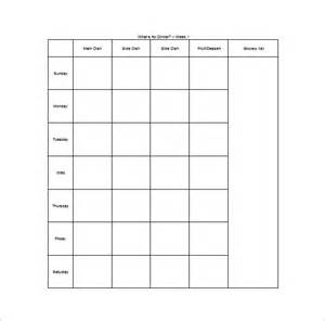 Blank Meal Plan Template by 12 Meal Planning Templates Free Sle Exle Format