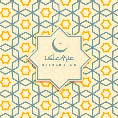 islamic pattern vector ai islamic yellow stars background vector free download