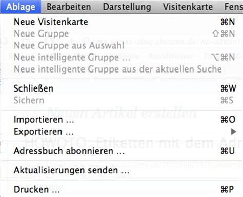 Etiketten Drucken Auf Mac by Howto Etiketten Mit Dem Adressbuch Mac Blogmac