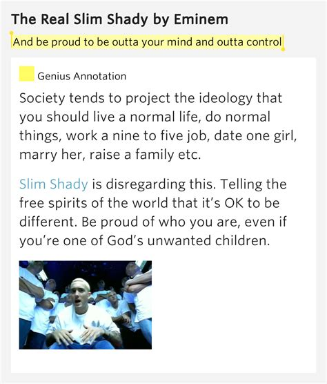 eminem the real slim shady lyrics genius and be proud to be outta your mind and the real slim shady