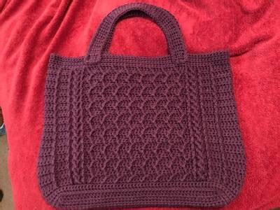 zig zag crochet pattern bag cabled zig zag bag crochet pattern