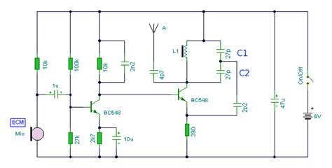 2 transistor fm transmitter circuit 2 transistor fm transmitter lifier circuit schematic projects