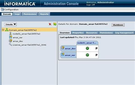 Informatica Administrator by Learn Informatica Administration Console Tabs