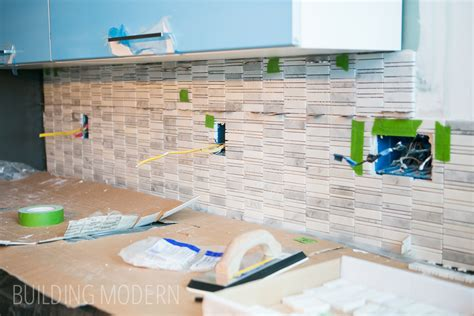 how to install a carrara marble mosaic tile backsplash part 1