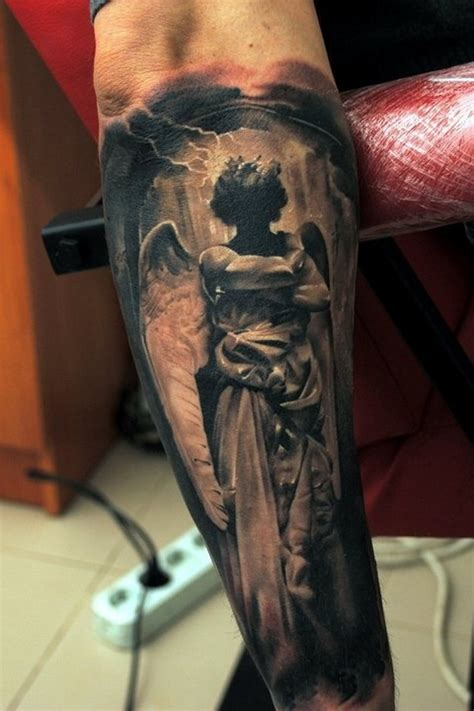 angel tattoo on forearm on arm tattooimages biz