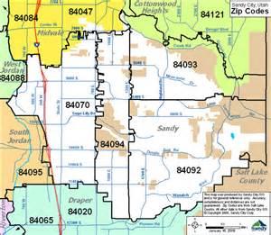 Slc Zip Code Map by Sandy Zip Codes Sandy City Ut