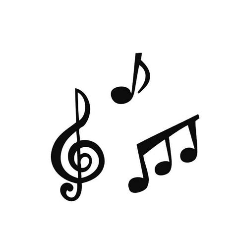 Musical Notes Images Free svg file notes beaoriginal