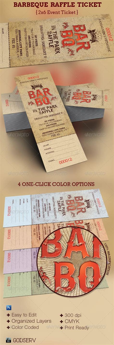 barbeque raffle ticket template fonts flyer template