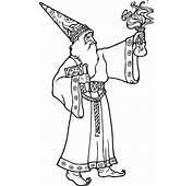 Printable Wizard 4 Fantasy Coloring Pages