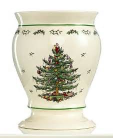 spode bath accessories christmas tree trash can all