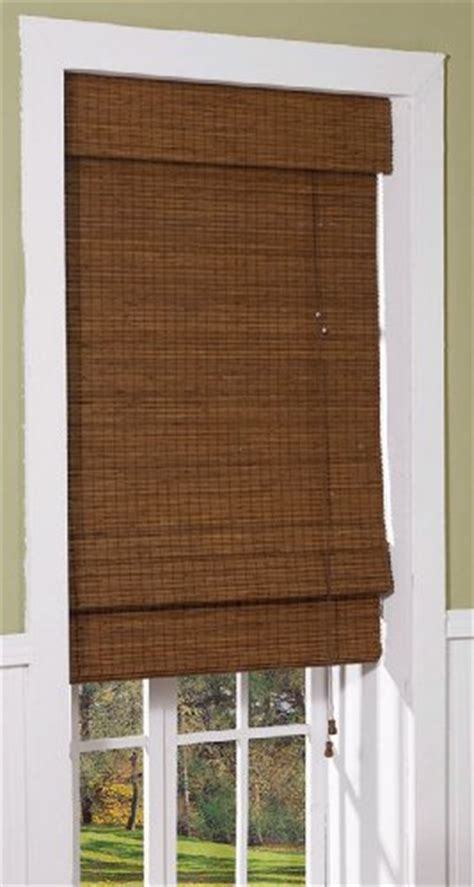 black l shades amazon bamboo woven wood shade blind window