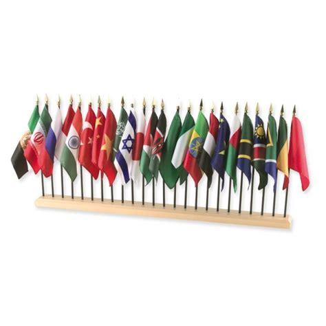 flags of the world montessori 24 hole hardwood flag stand montessori services