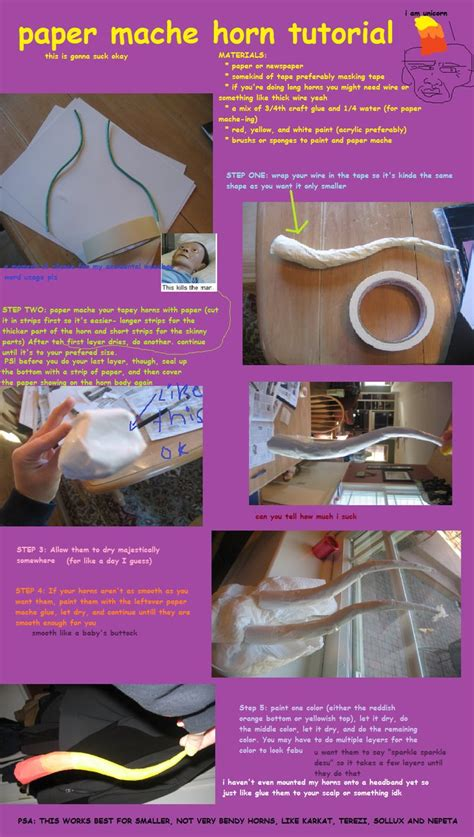 How To Make A Paper Horn - paper mache horn tutorial by aorean on deviantart