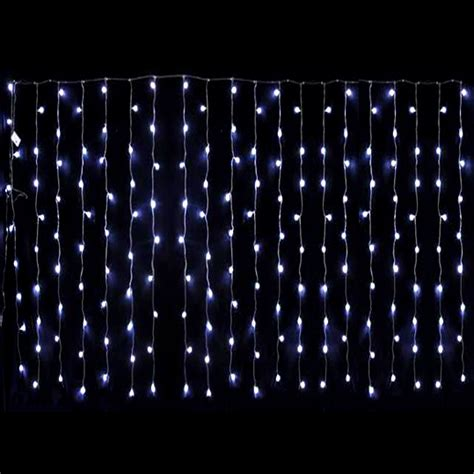 Led Light Curtains 180 Led White Backdrop Curtain Wedding Light With Function Controller 3m X 2 5m Ebay