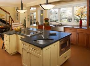 corner sinks also offer more flexibility you can basically place them kitchen island with sink and hob home design ideas