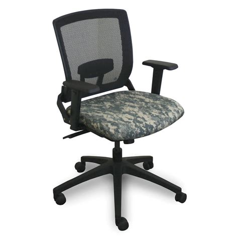 Camo Office Chair by Fermata Mid Back Executive Mesh Chair With Acu Digital
