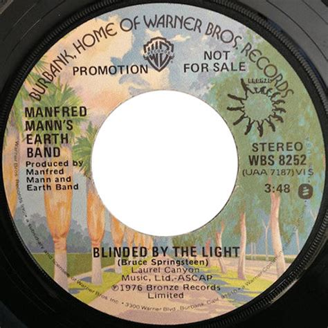 Blinded By The Lights Lyrics by Bruce Springsteen Lyrics Blinded By The Light Manfred Mann S Earth Band S Cover Version