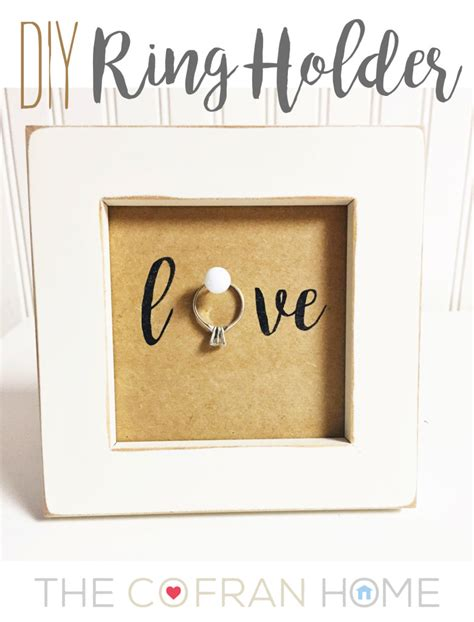 Wedding Ring Holder Diy diy ring holder the cofran home