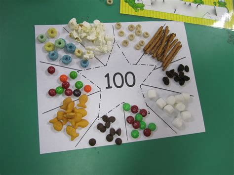 100 day snack sorting mat the alphabet tree 100th day in pictures