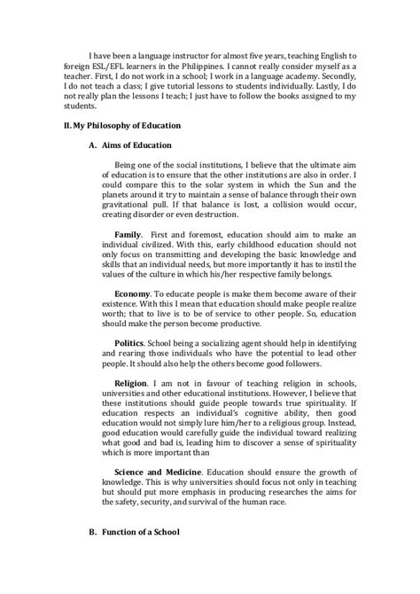 My Philosophy Of Education Essay by Educ 501 My Philosophy Of Education Essay