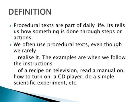 authorized biography definition ppt procedural text powerpoint presentation id 2152887