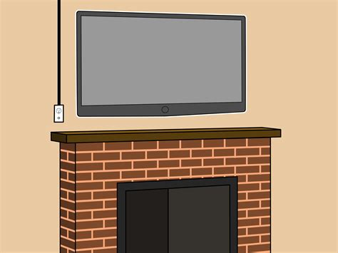 Mount Tv Fireplace by How To Mount A Fireplace Tv Bracket 7 Steps With Pictures