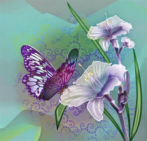 imagenes bonitas para dibujar en lienzo disenos cuadros mariposa con flores mariposas