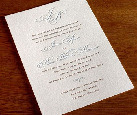 black tie attire wedding invitation 2016 pantone color report serenity letterpress
