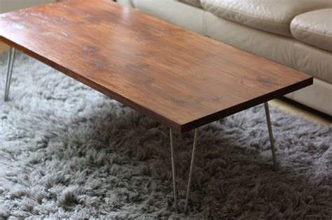 mid century modern coffee table diy diy mid century modern coffee table shelterness