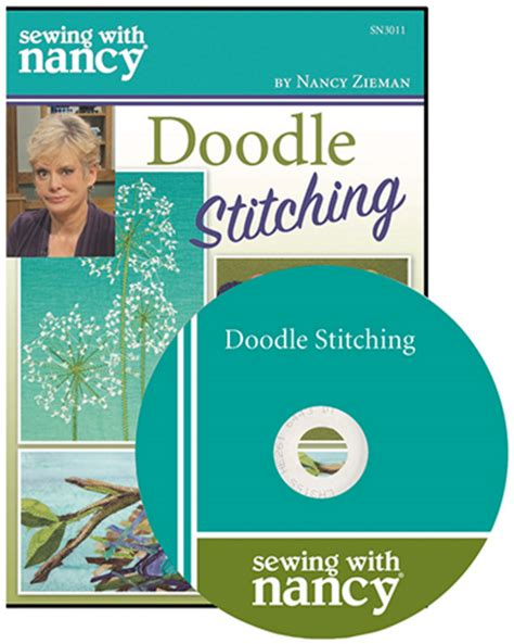 how to do doodle stitching sewing with nancy doodle stitching wdse 183 wrpt pbs 8 31