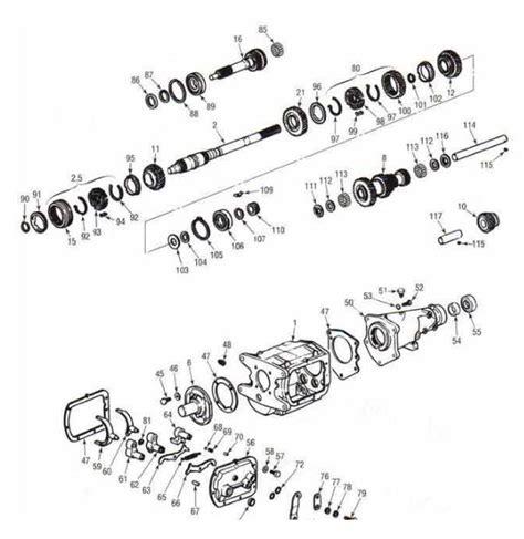 saginaw    speed diagram chevrolet transmission repair parts